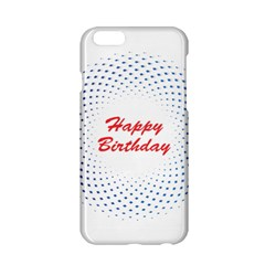 Halftone Circle With Squares Apple iPhone 6 Hardshell Case