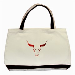 Stylized Symbol Red Bull Icon Design Classic Tote Bag