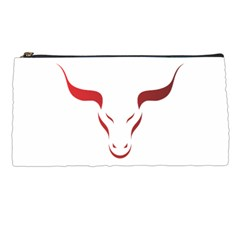 Stylized Symbol Red Bull Icon Design Pencil Case