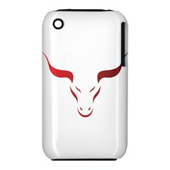 Stylized Symbol Red Bull Icon Design Apple iPhone 3G/3GS Hardshell Case (PC+Silicone)