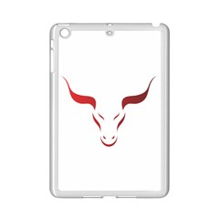 Stylized Symbol Red Bull Icon Design Apple iPad Mini 2 Case (White)