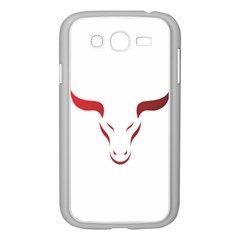 Stylized Symbol Red Bull Icon Design Samsung Galaxy Grand DUOS I9082 Case (White)