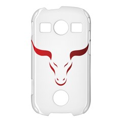 Stylized Symbol Red Bull Icon Design Samsung Galaxy S7710 Xcover 2 Hardshell Case
