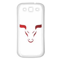Stylized Symbol Red Bull Icon Design Samsung Galaxy S3 Back Case (White)
