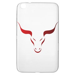 Stylized Symbol Red Bull Icon Design Samsung Galaxy Tab 3 (8 ) T3100 Hardshell Case