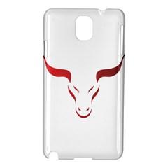 Stylized Symbol Red Bull Icon Design Samsung Galaxy Note 3 N9005 Hardshell Case