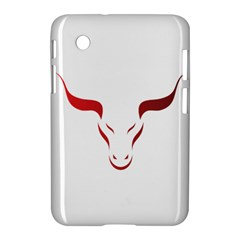 Stylized Symbol Red Bull Icon Design Samsung Galaxy Tab 2 (7 ) P3100 Hardshell Case