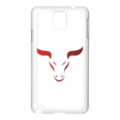 Stylized Symbol Red Bull Icon Design Samsung Galaxy Note 3 N9005 Case (White)