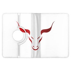 Stylized Symbol Red Bull Icon Design Kindle Fire HDX 7  Flip 360 Case
