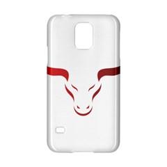 Stylized Symbol Red Bull Icon Design Samsung Galaxy S5 Hardshell Case