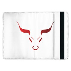 Stylized Symbol Red Bull Icon Design Samsung Galaxy Tab Pro 12.2  Flip Case