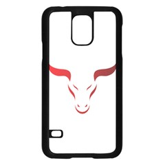 Stylized Symbol Red Bull Icon Design Samsung Galaxy S5 Case (Black)
