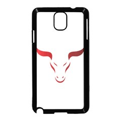 Stylized Symbol Red Bull Icon Design Samsung Galaxy Note 3 Neo Hardshell Case (Black)