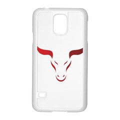 Stylized Symbol Red Bull Icon Design Samsung Galaxy S5 Case (White)