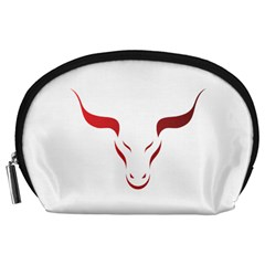Stylized Symbol Red Bull Icon Design Accessory Pouch (Large)