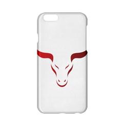 Stylized Symbol Red Bull Icon Design Apple iPhone 6 Hardshell Case