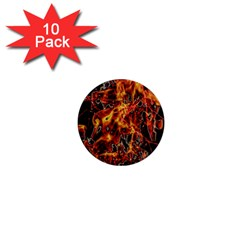On Fire 1  Mini Button Magnet (10 pack)
