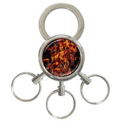 On Fire 3-Ring Key Chain