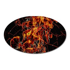 On Fire Magnet (oval)