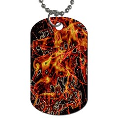 On Fire Dog Tag (two Sided)