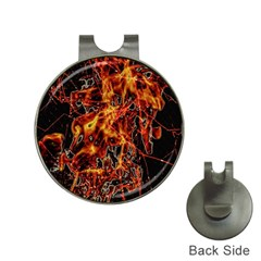 On Fire Hat Clip with Golf Ball Marker