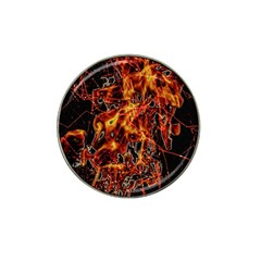 On Fire Golf Ball Marker (for Hat Clip)