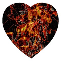 On Fire Jigsaw Puzzle (Heart)