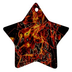On Fire Star Ornament (two Sides)