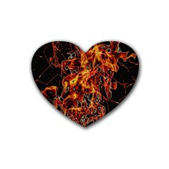 On Fire Drink Coasters 4 Pack (heart)