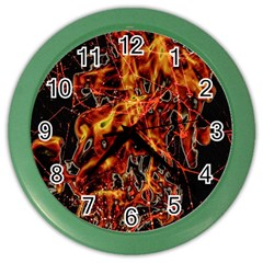 On Fire Wall Clock (Color)