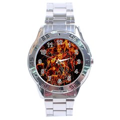 On Fire Stainless Steel Watch