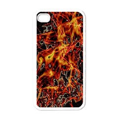 On Fire Apple Iphone 4 Case (white)