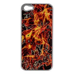 On Fire Apple Iphone 5 Case (silver)