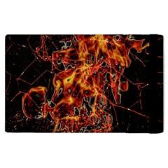 On Fire Apple Ipad 3/4 Flip Case