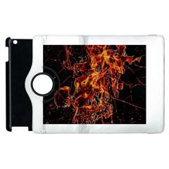 On Fire Apple iPad 3/4 Flip 360 Case