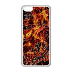 On Fire Apple Iphone 5c Seamless Case (white)