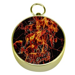 On Fire Gold Compass