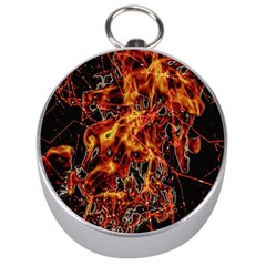 On Fire Silver Compass