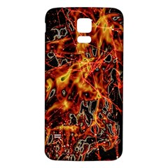 On Fire Samsung Galaxy S5 Back Case (White)