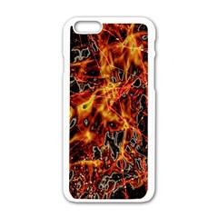 On Fire Apple Iphone 6 White Enamel Case