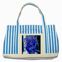 Water Nymph Blue Striped Tote Bag