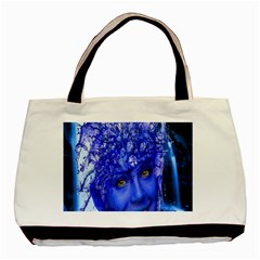 Water Nymph Twin-sided Black Tote Bag