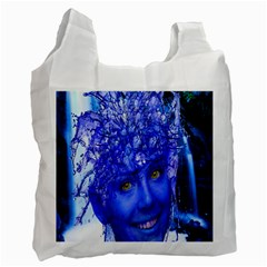 Water Nymph White Reusable Bag (two Sides)