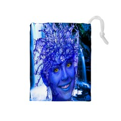 Water Nymph Drawstring Pouch (Medium)
