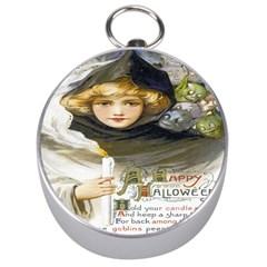 A Happy Hallowe en Silver Compass