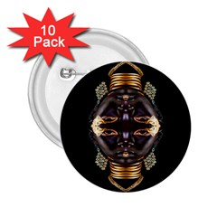 African Goddess 2 25  Button (10 Pack)