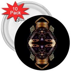 African Goddess 3  Button (10 pack)