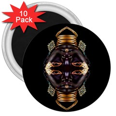 African Goddess 3  Button Magnet (10 Pack)