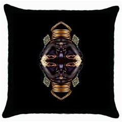 African Goddess Black Throw Pillow Case