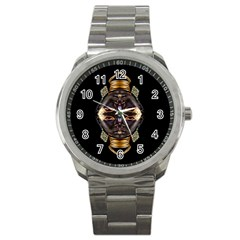 African Goddess Sport Metal Watch
